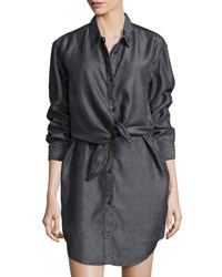 Cheap Monday Great Button Front Shirtdress Lord Black