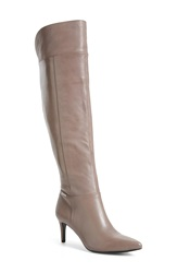 Calvin Klein 'Cancey' Over The Knee Boot Women Winter Taupe Leather