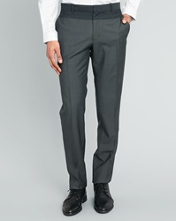Ikks Medium Grey Two Tone Slim Fit Trousers