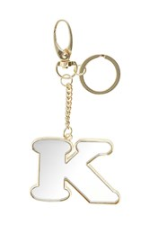 Topshop K' Mirror Initial Keyring Clear