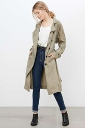 Silence And Noise Silence Noise Lauren Duster Trench Coat Tan