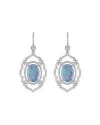 Penny Preville 18K Opal And Diamond Arabesque Drop Earrings