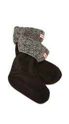 Hunter Cable Short Boot Socks Black Grey