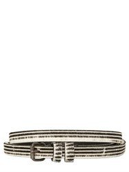 Haider Ackermann 15Mm Stripe Printed Ponyskin Belt