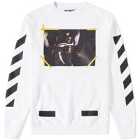 Off White 7 Opere Crew Sweat White