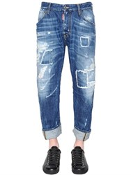 Dsquared 20Cm Workwear Patched Denim Jeans