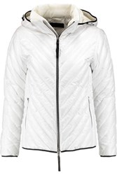Rag And Bone Quilted Shell Hooded Coat White