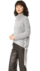 Style Stalker Hart Turtleneck Knit White Charcoal Marle