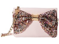 Betsey Johnson Oh Bow Wallet On A String Blush Fairy Dust Cross Body Handbags Pink
