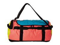The North Face Base Camp Duffel Large Tropical Coral Blazing Yellow Duffel Bags Pink