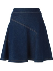 See By Chloe High Waisted Denim Skirt Blue