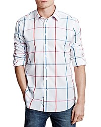 Thomas Pink Hollman Check Classic Fit Button Down Shirt White Red