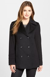 Women's Fleurette Wool Peacoat Black