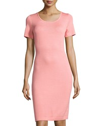 St. John Santana Short Sleeve Sheath Dress Nectar