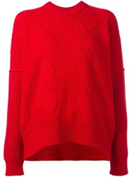 Comme Des Garcons Junya Watanabe Oversized Jumper Red