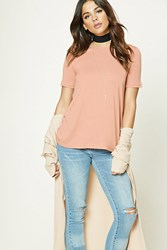 Forever 21 Lace Up Back Top Blush