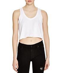 Nytt Elicia Flounce Crop Top White