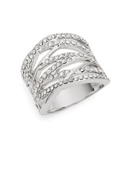 Michela Pave Cocktail Ring Silver