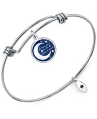 Unwritten 'I Love You To The.' Adjustable Message Bangle Bracelet Bangle Bracelet In Stainless Steel