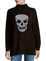 Skull Cashmere Printed Pullover Black Grey
