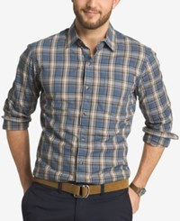 G.H. Bass And Co. Men's Trail Plaid Long Sleeve Shirt Orion Blue