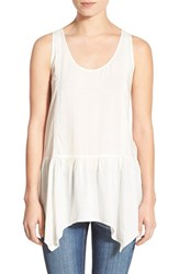 Junior Women's Sun And Shadow Drop Waist Ruffle Tank