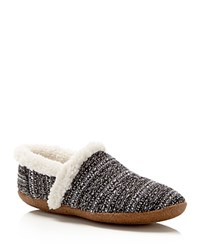 Toms Boucle Slippers Black White