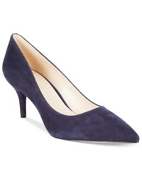 Nine West Margot Pointed Toe Pumps Women's Shoes Dark Navy Suede