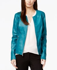 Alfani Petite Quilted Shoulder Moto Jacket Only At Macy's