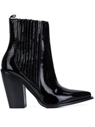 Sonia Rykiel Pointed Toe Ankle Boots Black
