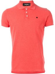 Dsquared2 Classic Polo Shirt Pink And Purple