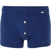 Schiesser Karl Heinz Cotton Boxer Shorts Blue