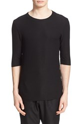 Drifter Men's 'Beck' Double Layer Three Quarter Sleeve T Shirt