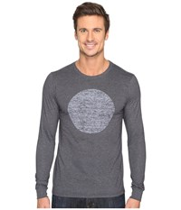 Hurley Circular Long Sleeve Tee Heather Black Men's T Shirt