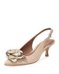 Donald J Pliner Rizza Flower Slingback Pump Taupe Brown