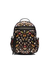 Alexander Mcqueen Obsess Backpack In Black Abstract Print Floral Black Abstract Print Floral