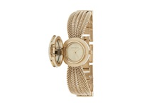Anne Klein Ak 1046Chcv Swarovski Crystal Accented Gold Tone Covered Dial Mesh Bracelet Watch Gold Watches