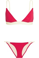 Solid And Striped The Morgan Triangle Bikini Crimson