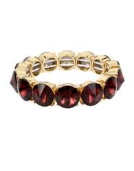Kenneth Cole Faceted Stone Stretch Bracelet Burgundy