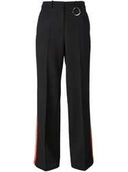 Ports 1961 Contrasted Stripe Trousers Black