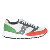 Saucony Men's Jazz 91 Trainers White Light Red Green