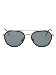 Thom Browne Round Frame Sunglasses Black