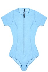 Lisa Marie Fernandez Farrah Denim Maillot Swimsuit
