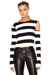 Amiri Le Stripe Knit Top In Black White Stripes Black White Stripes