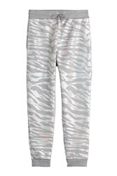 Kenzo Printed Cotton Sweatpants Grey