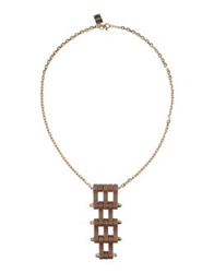 Borbonese Necklaces Light Brown