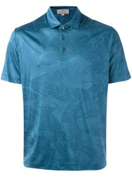Canali Classic Polo Shirt Blue