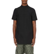 Rick Owens High Neck Woven Tunic Black