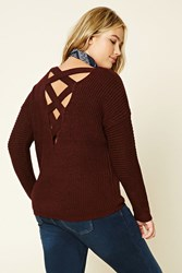 Forever 21 Plus Size Cutout Back Sweater