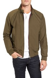 Baracuta Men's 'G9' Water Repellent Harrington Jacket Military Green